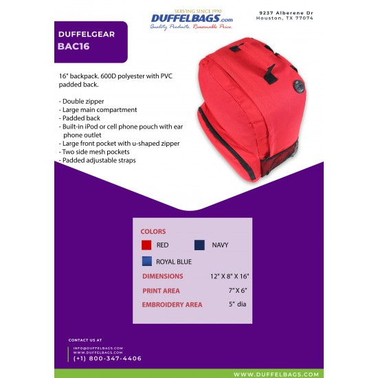 DuffelGear Backpack by dufflebags