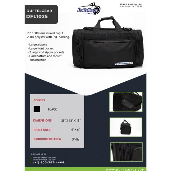 "DuffelGear 1000 Series ""TuffDuff"" Duffel 25"" by Dufflebags.com - Luggage store - Wholesale bag - Best duffle bag - personalized duffle bag"