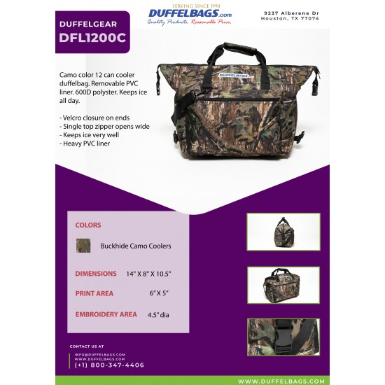 DuffelGear Camo Coolers by Dufflebags.com - Luggage store - Wholesale bag - Best duffle bag - personalized duffle bag