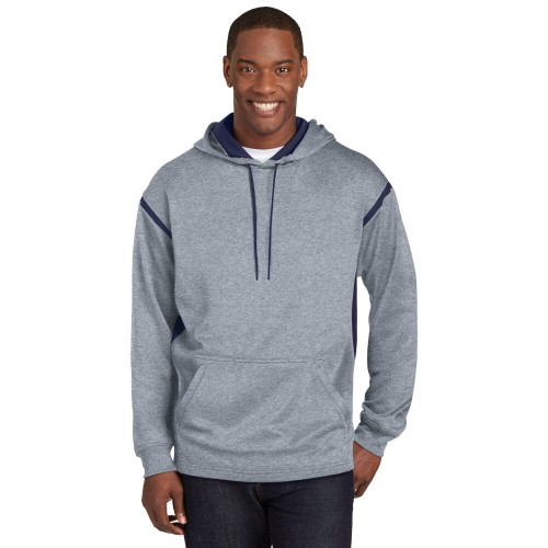 Sport-Tek® Tech Fleece Colorblock Hooded Sweatshirt