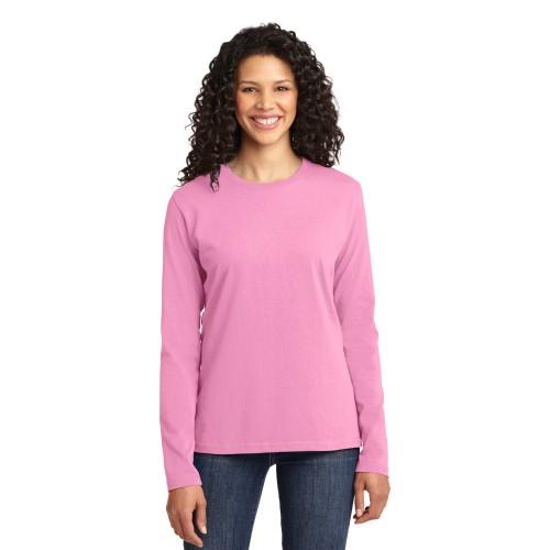 Port & Company® Ladies Long Sleeve Core Cotton Tee