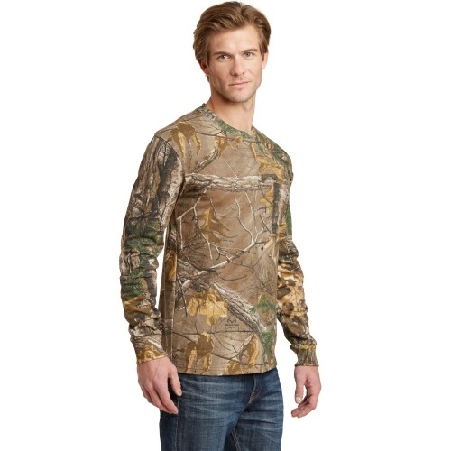 Russell Outdoors™ Realtree® Long Sleeve Explorer 100% Cotton T-Shirt with Pocket