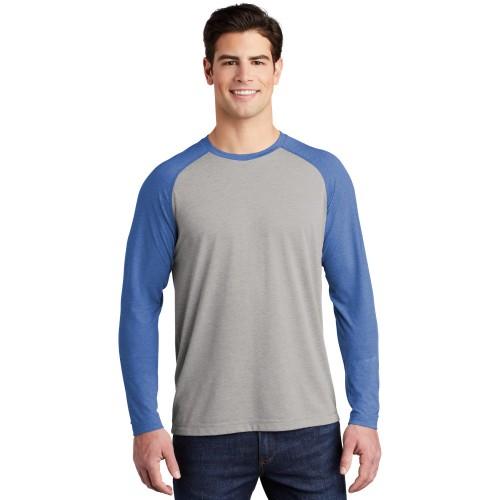 Sport-Tek ® PosiCharge ® Long Sleeve Tri-Blend Wicking Raglan Tee