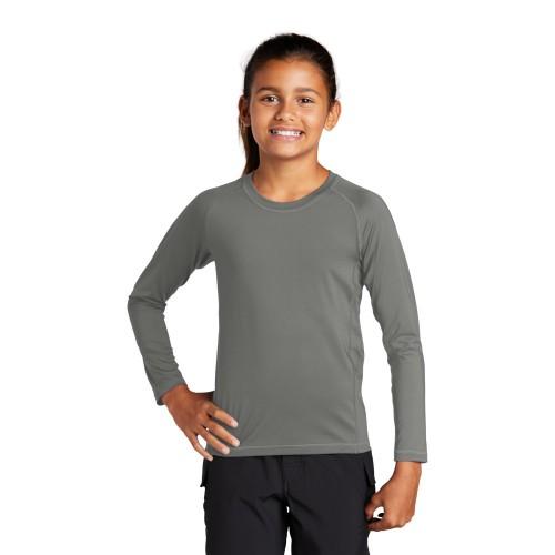 Sport-Tek ® Youth Long Sleeve Rashguard Tee