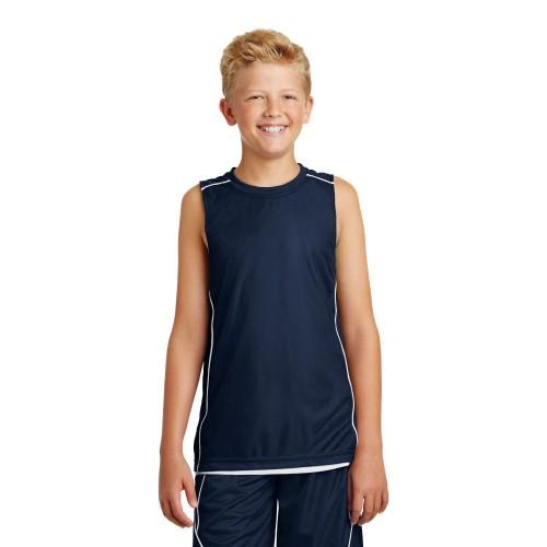 Sport-Tek® Youth PosiCharge® Mesh Reversible Sleeveless Tee