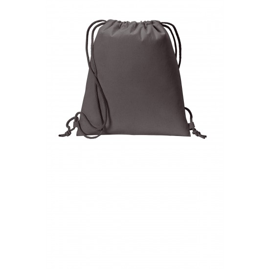 Port Authority ® Cotton Cinch Pack by Dufflebags.com - Luggage store - Wholesale bag - Best duffle bag - personalized duffle bag