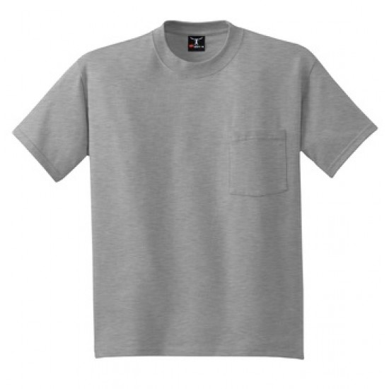 Hanes® Beefy-T® - 100 Cotton T-Shirt with Pocket by Dufflebags.com - Luggage store - Wholesale bag - Best duffle bag - personalized duffle bag