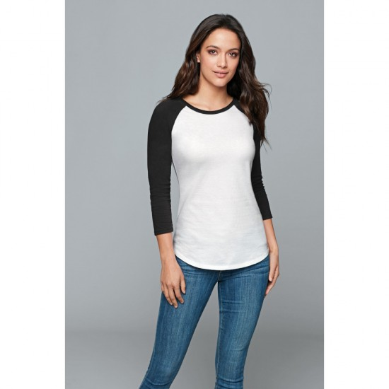 District ® Women's Fitted Very Important Tee ® 3/4-Sleeve Raglan