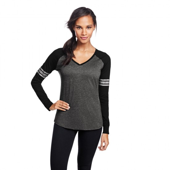 District ® Women's Game Long Sleeve V-Neck Tee