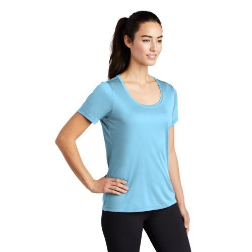 Sport-Tek ® Ladies Posi-UV ™ Pro Scoop Neck Tee