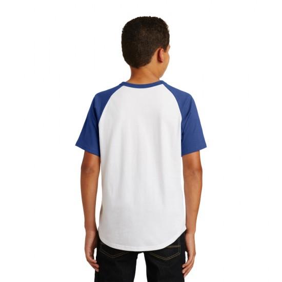 Sport-Tek® Youth Short Sleeve Colorblock Raglan Jersey