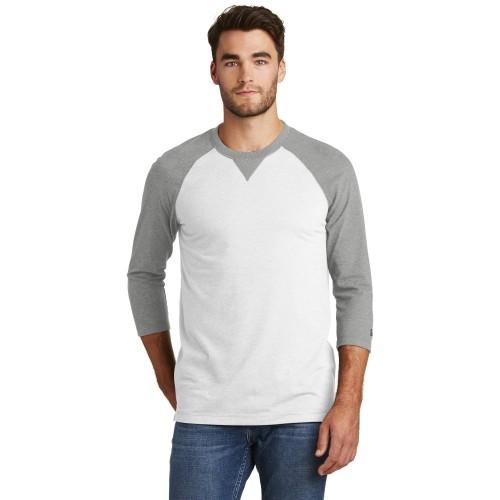 New Era® Sueded Cotton Blend 3/4-Sleeve Baseball Raglan Tee
