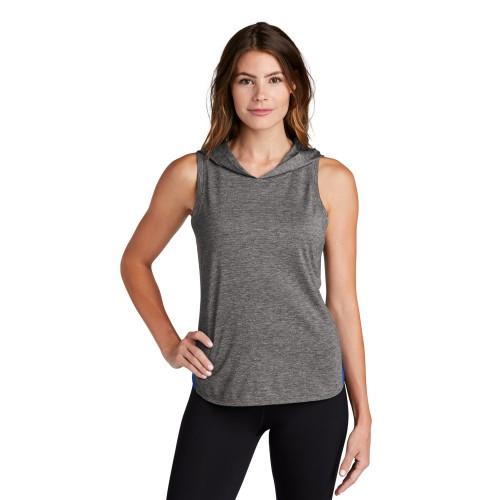 Sport-Tek ® Ladies PosiCharge ® Tri-Blend Wicking Draft Hoodie Tank