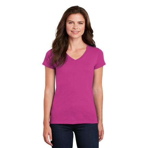 Gildan® Ladies Heavy Cotton™ 100% Cotton V-Neck T-Shirt