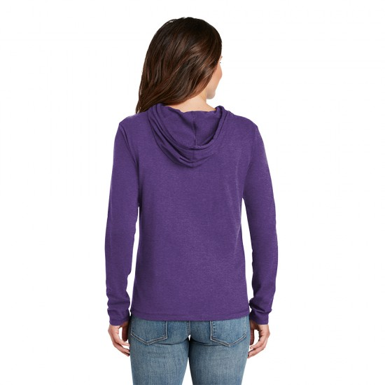 Anvil® Ladies 100 Combed Ring Spun Cotton Long Sleeve Hooded T-Shirt by Dufflebags.com - Luggage store - Wholesale bag - Best duffle bag - personalized duffle bag