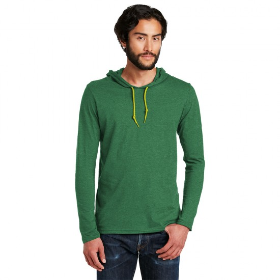 Anvil® 100 Combed Ring Spun Cotton Long Sleeve Hooded T-Shirt by Dufflebags.com - Luggage store - Wholesale bag - Best duffle bag - personalized duffle bag