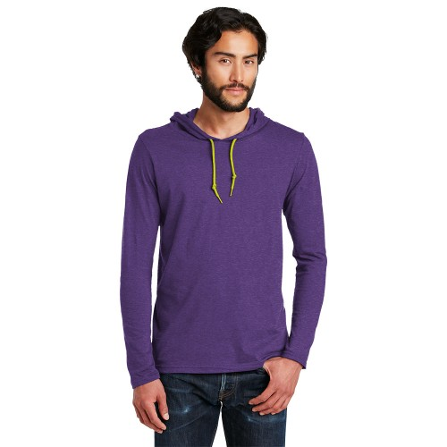 Anvil® 100% Combed Ring Spun Cotton Long Sleeve Hooded T-Shirt