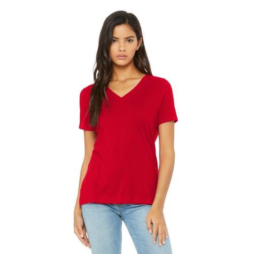 BELLA+CANVAS ® Women's Relaxed Jersey Short Sleeve V-Neck Tee