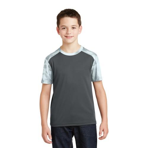 Sport-Tek® Youth CamoHex Colorblock Tee