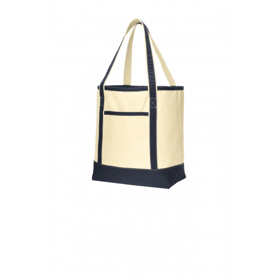 Port Authority® Large Cotton Canvas Boat Tote by Dufflebags.com - Luggage store - Wholesale bag - Best duffle bag - personalized duffle bag