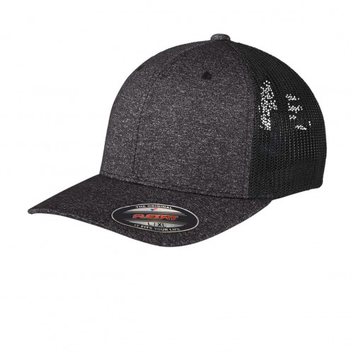 Port Authority ® Flexfit ® Melange Mesh Back Trucker Cap