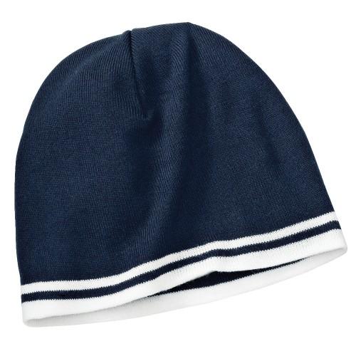 Port & Company® - Fine Knit Skull Cap with Stripes