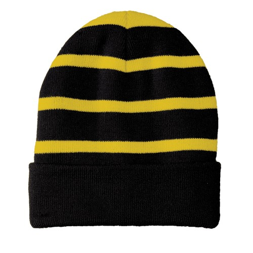 Sport-Tek® Striped Beanie with Solid Band