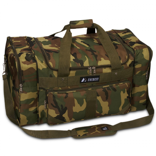 Adjustable Camo Duffel Bag by Dufflebags.com - Luggage store - Wholesale bag - Best duffle bag - personalized duffle bag