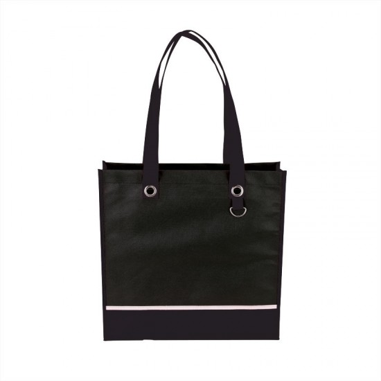 Color Accent Tote With Metal D-Ring by dufflebags