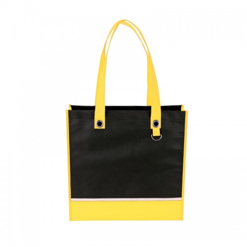 Color Accent Tote With Metal D-Ring