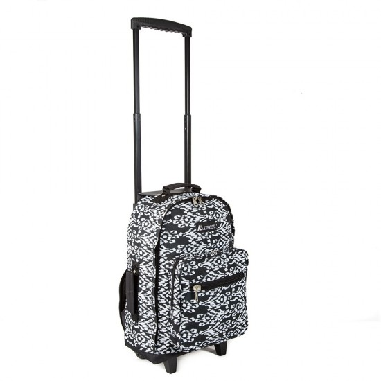 Wheeled Pattern Backpack by dufflebags