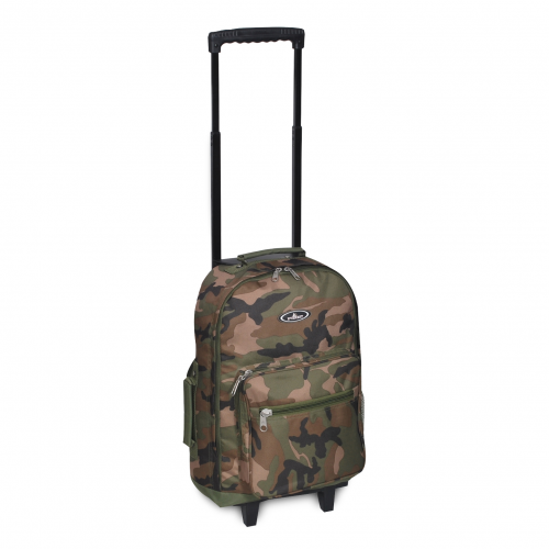Woodland Camo Wheeled Backpack