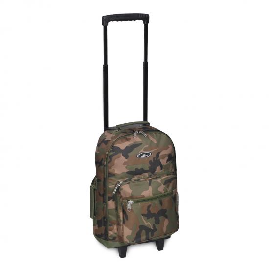Woodland Camo Wheeled Backpack by dufflebags