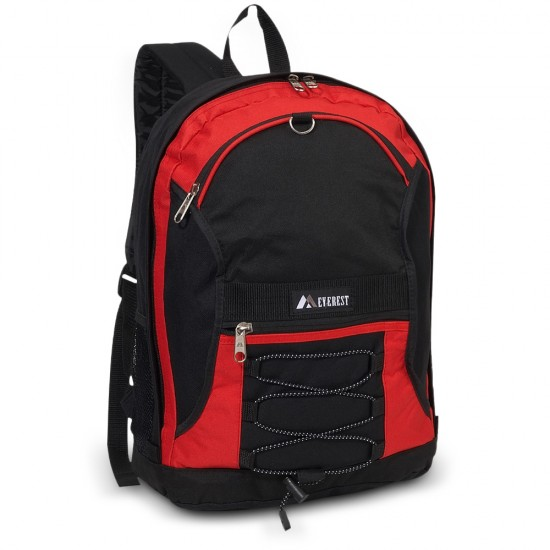 Two-Tone Backpack With Mesh Pockets by dufflebags