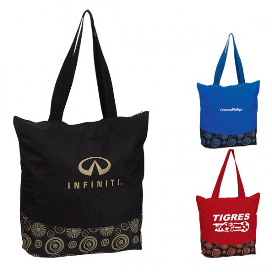 Zippered Color Pop Tote by dufflebags