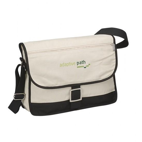 Canvas Messenger Bag by dufflebags