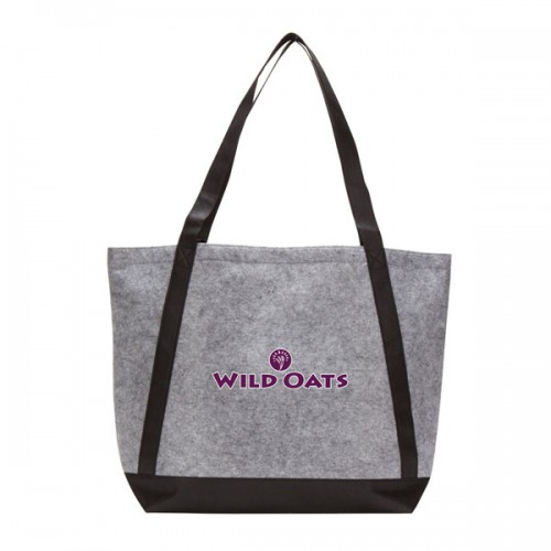 Felt Tote With Contrast Color Strap