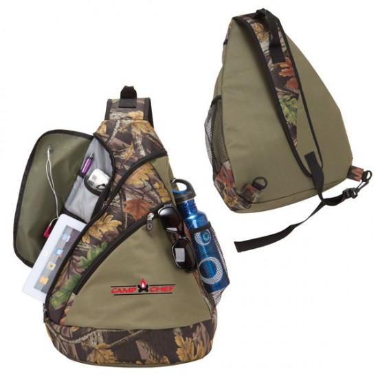 Camo Sling Tablet Backpack by dufflebags