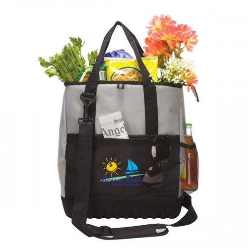 Cooler Tote W/ Molded Bottom