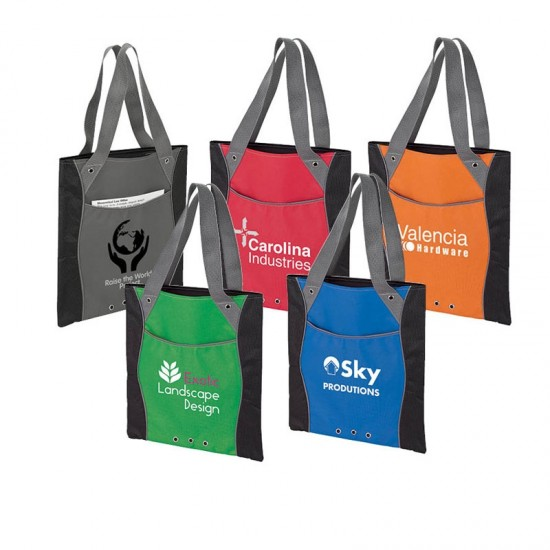 Color Accent Tote by dufflebags