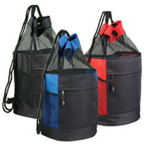 Drawstring Mesh Backpack