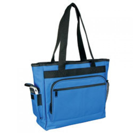 Zippered Tote With Briefcase by dufflebags
