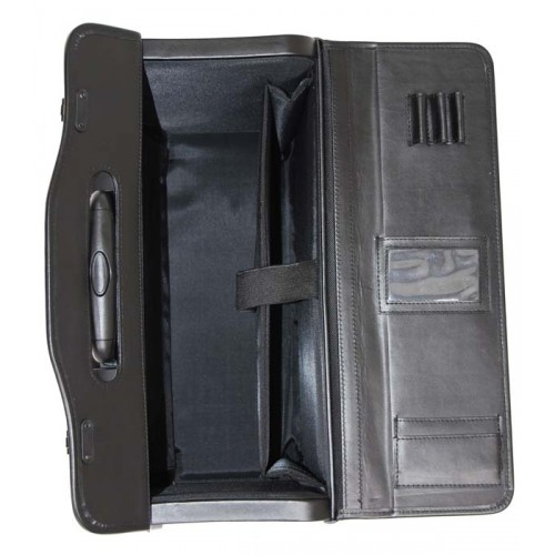 Leather rolling computer & catalog case
