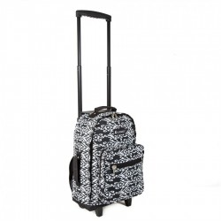 Wheeled Pattern Backpack