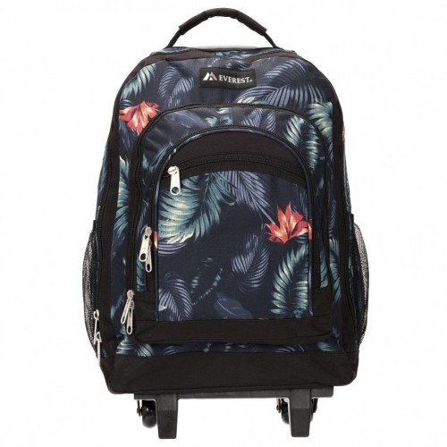 Wheeled Backpack With Pattern
