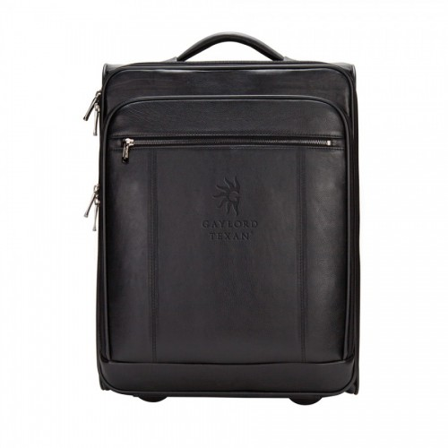 """The Precision Leather 20"""" Computer/Tablet Carry-on"""